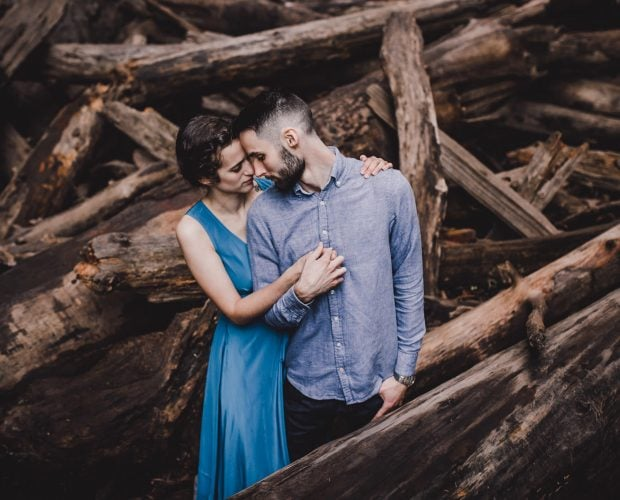 Oneonta Gorge Columbia River Engagement Session Portland Oregon