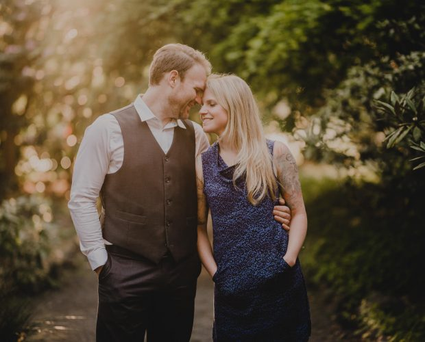 Crystal Springs Rhododendron Garden Engagement Photography