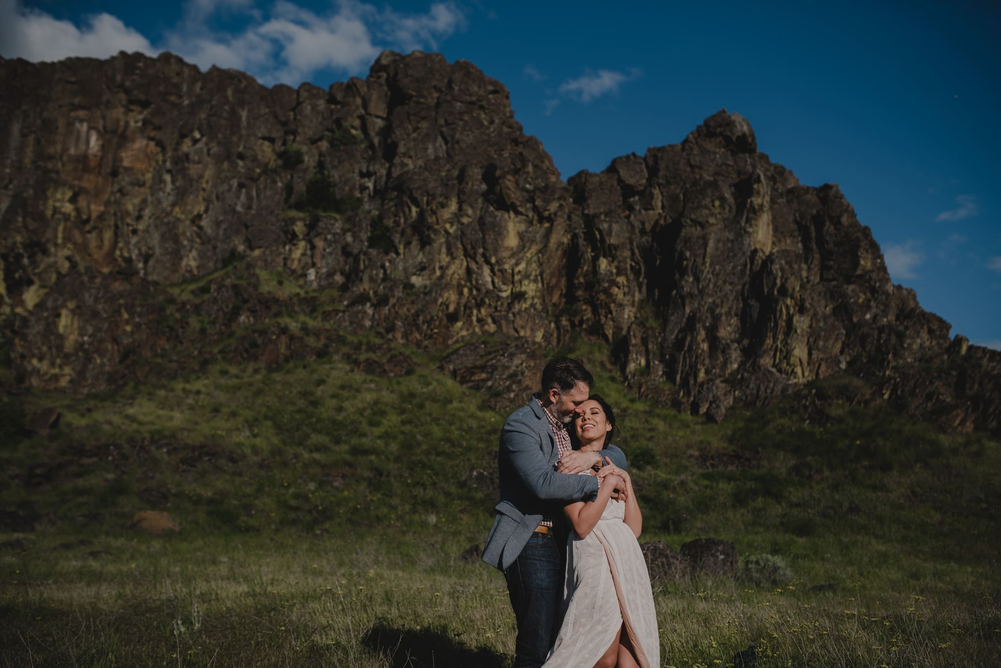 Horse Thief Butte Columbia River Gorge Engagement Session Photography