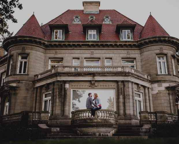 Cathedral Park Pittock Mansion Engagement Photography