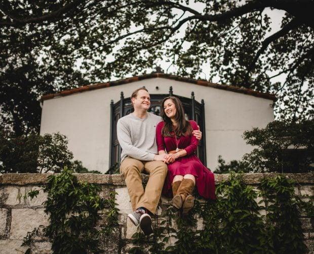 Dallas Texas Arboretum Engagement Photography