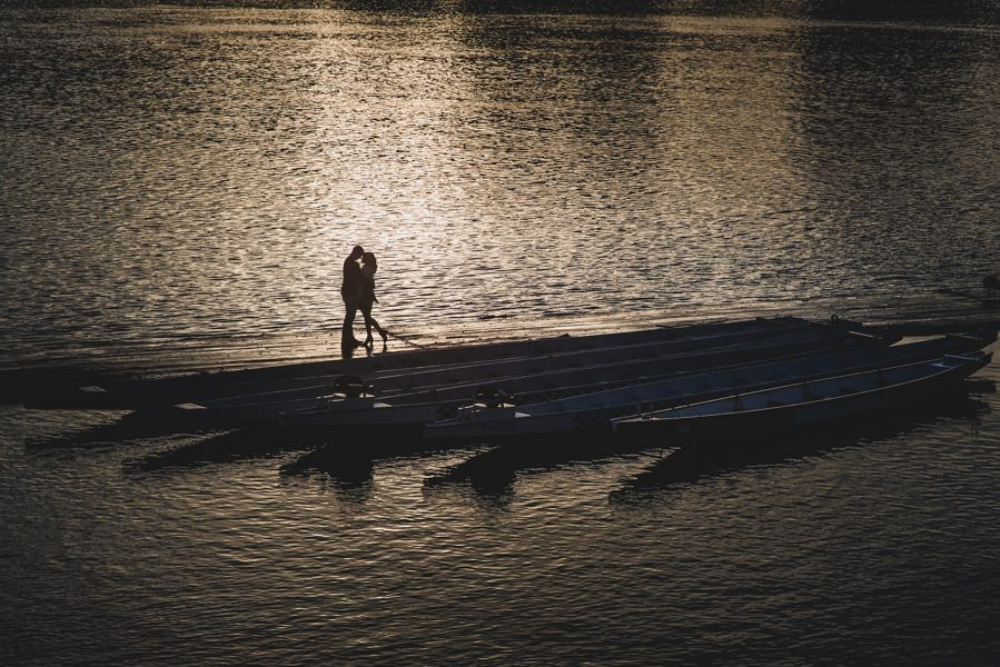 A downtown Portland engagement session at Sentinel Hotel, East Bank Esplanade, and Washington Park