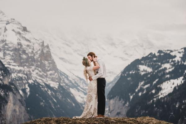 Swiss Alps Elopement Photography