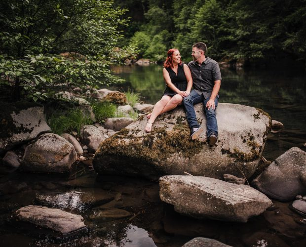 Clackamas River Engagement Photography