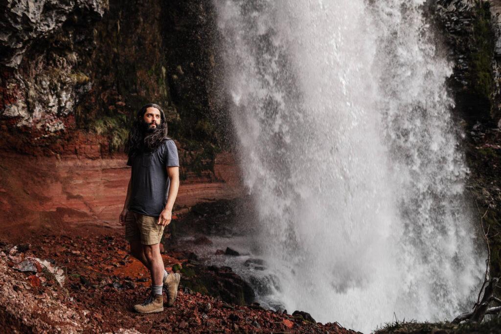 Kyle at Tumalo Falls